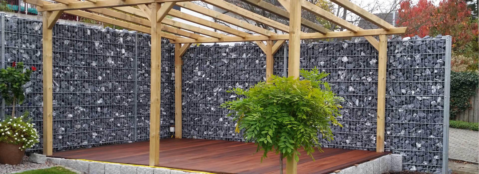 Gabionen für Terrasse